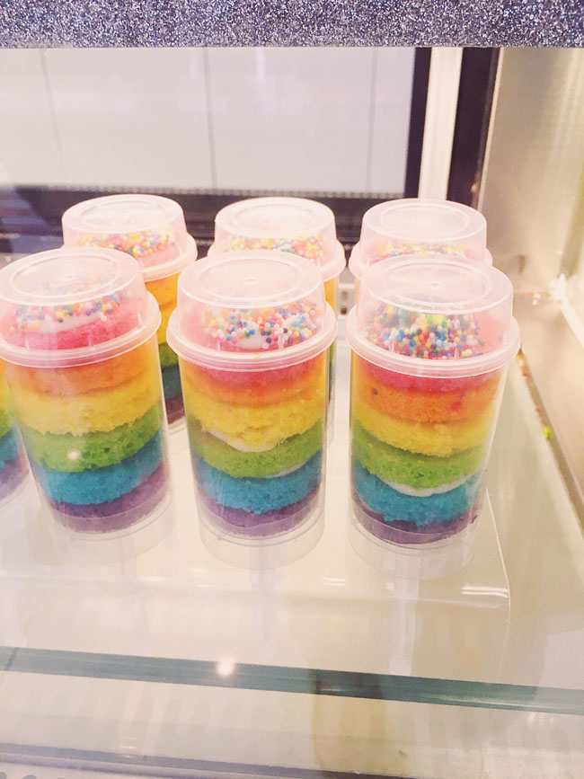 Most Instagram Worthy Desserts in NYC - Flour Shop rainbow cake pop
