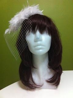 kafes tüllü, beyaz nikah şapkası paper faces