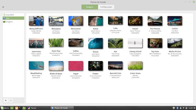 Papéis de parede Linux Mint