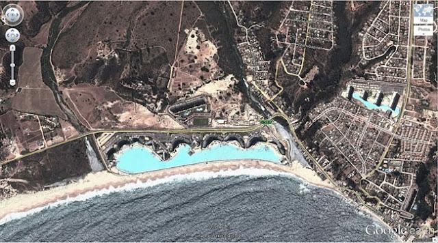 coisas flagradas pelo google earth, maior piscina do mundo