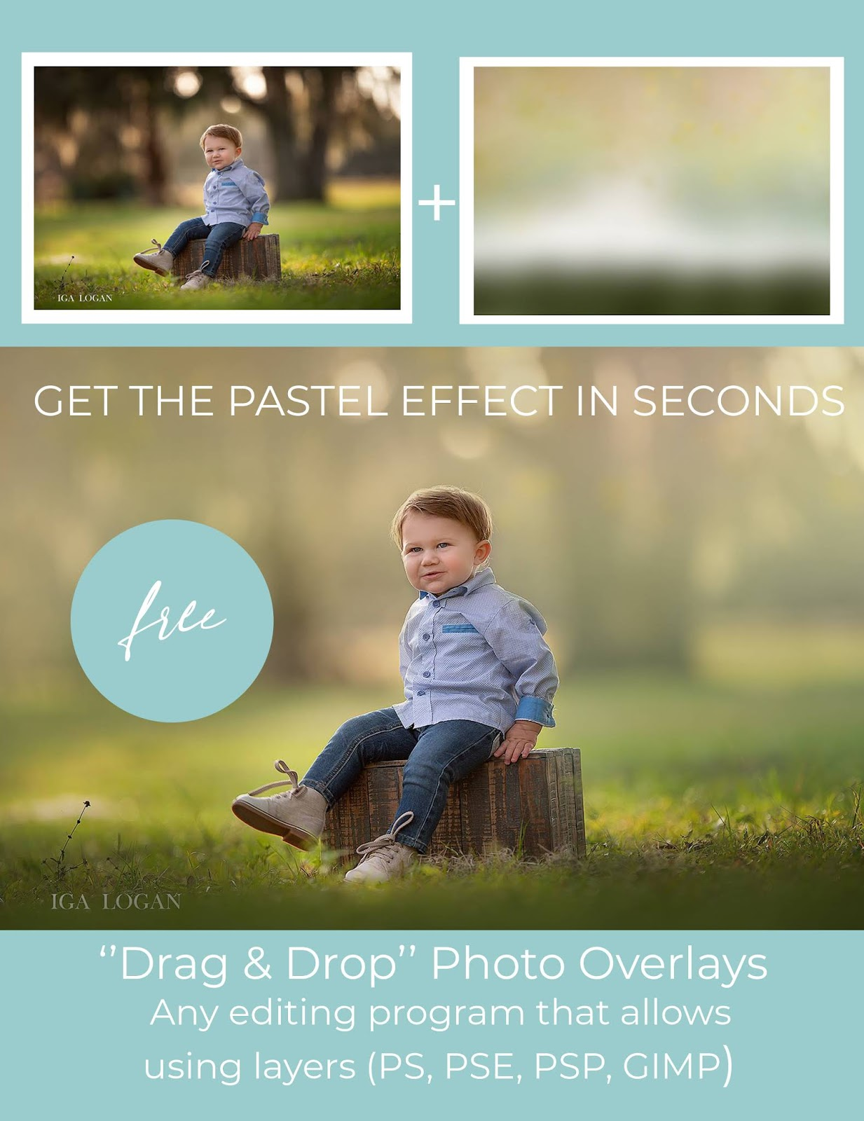 Free Pastel Spring Painted Photo Overlays and start creating today!