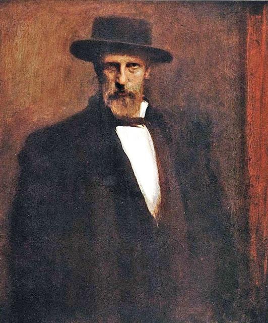 Leo Samberger, Self Portrait, Portraits of Painters, Fine arts, Painter Leo Samberger