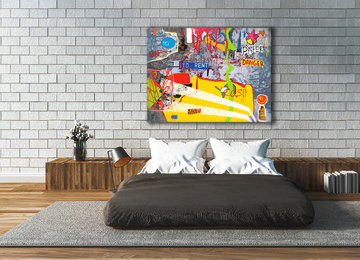 neo expressionist, art, canvas art, canvas print, contemporary, modern, multi coloured, urban, photography,
