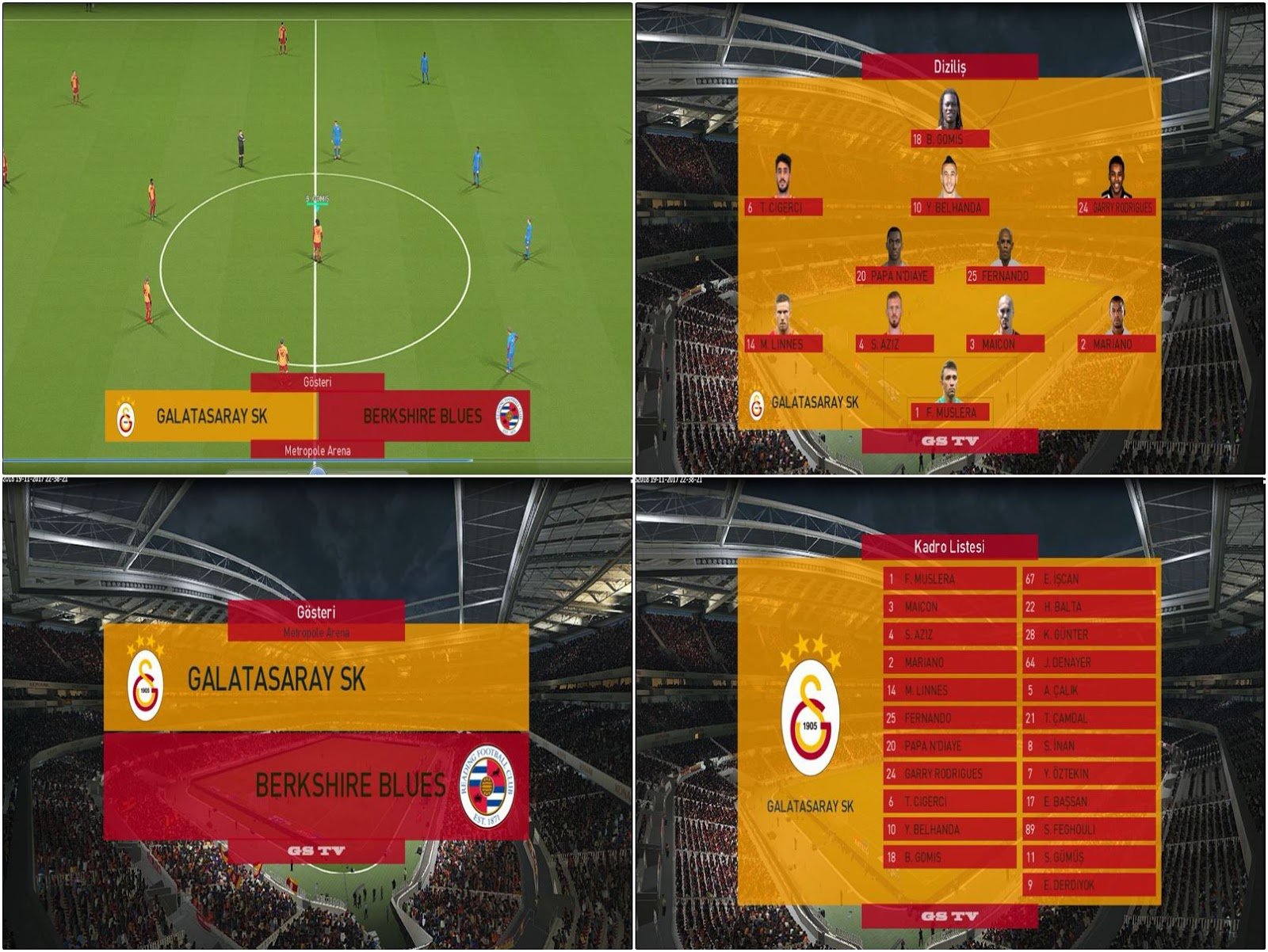 PES 2018 Galatasaray Scoreboard by 44maestro