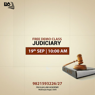 Free Demo Class For Judiciary - Pahuja Law Academy