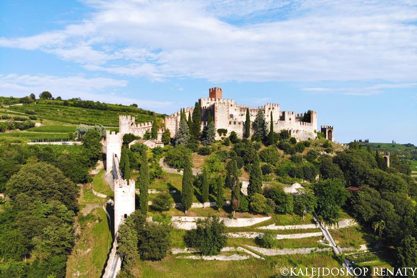 Widok na zamek w Soave