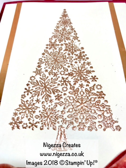 Snow is Glistening Christmas Card #6 Nigezza Creates
