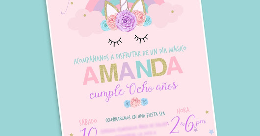 #Freebie Invitación digital unicornio