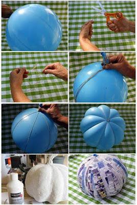 Paso a paso : Cómo hacer una calabaza con un globo para Halloween