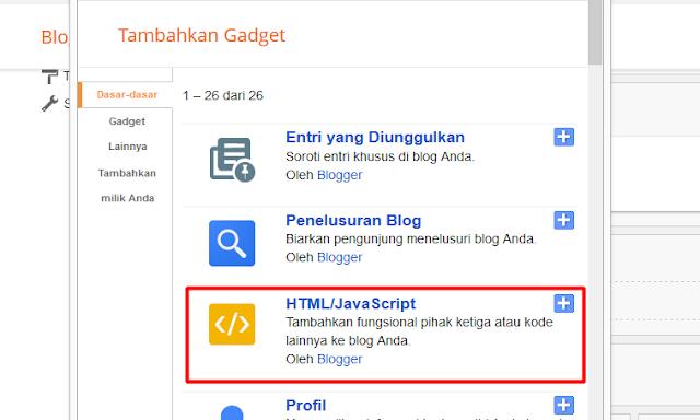 Membuat Menu Navigasi Pada Template Bawaan Blogger