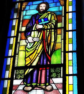 Vitral de São Marcos na Igreja Matriz Santo Antônio de Pádua - Silveira Martins (RS)