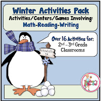 Winter Activity Pack is full of winter centers for 2nd and 3rd grade classrooms