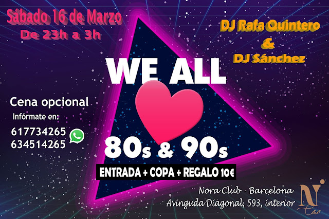 Flyer Fiesta We Love 80s & 90s