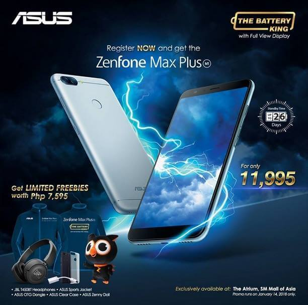 Asus Zenfone Max Plus M1 is Priced at Php11,995; Comes with Freebies Worth Php7,595
