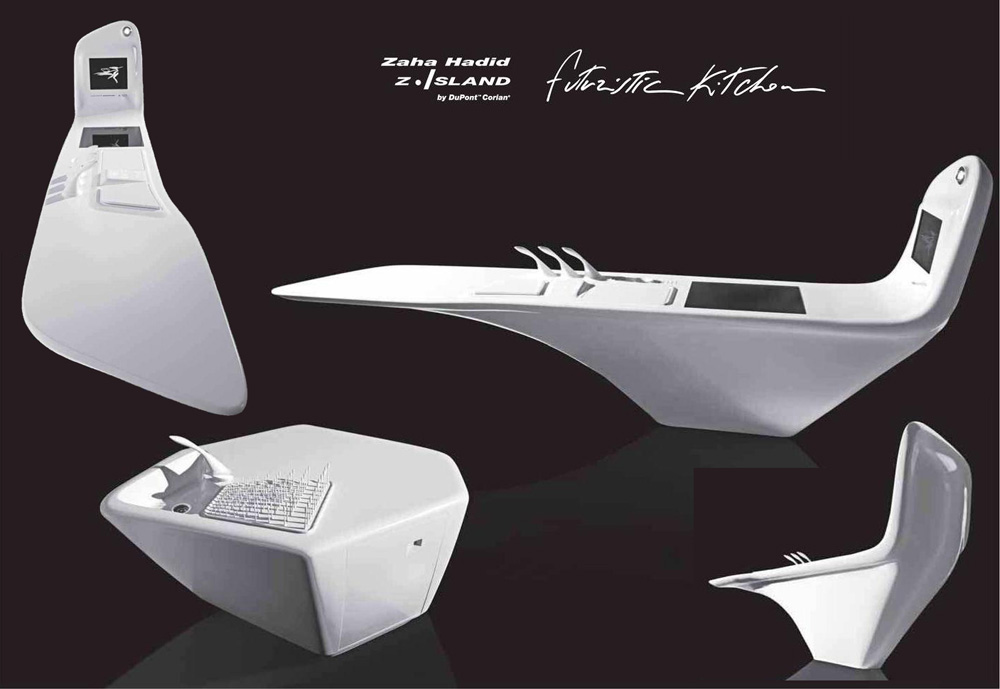 Zaha Hadid Philosophy if it's hip, it's here (archives): z. island. a kitchen