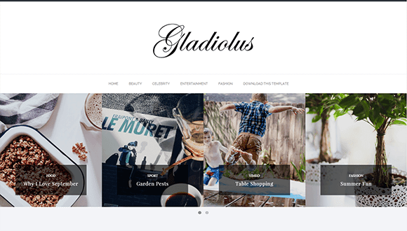 gladiolus template blogger