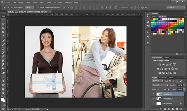 Couple of Ways and Tips to Place One Image Next to Another in Photoshop