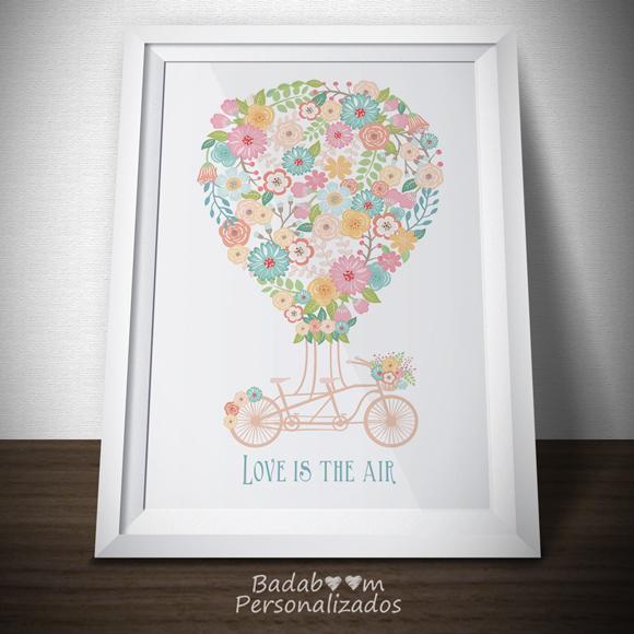 Poster, Posteres, Poster, Print, Quadro, Quadrinho, Frases, Balão, Bicicleta, Love, amor