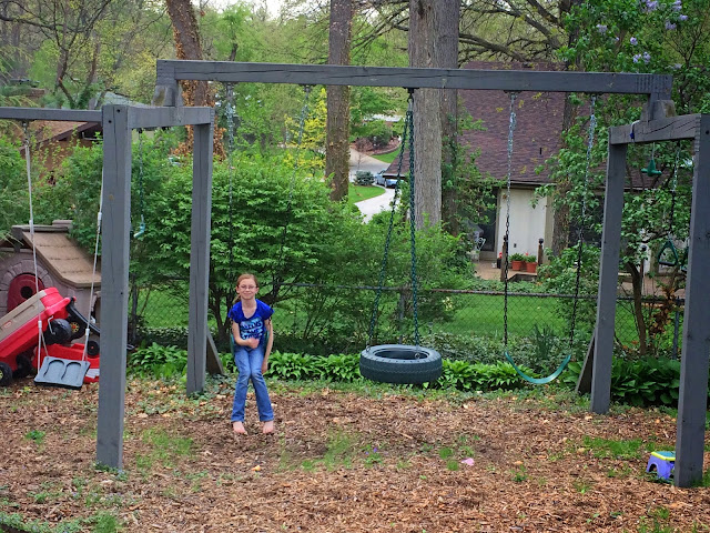 homemade swing set
