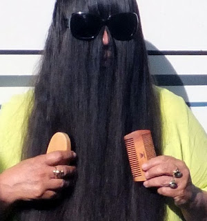 HOSALA - BEARD BRUSH COMB SET for Men, Natural Boar Bristle, Best for Grooming Facial Hair, Dry/Wet Mustache, Gift Box & Cotton Bag for Home & Travel