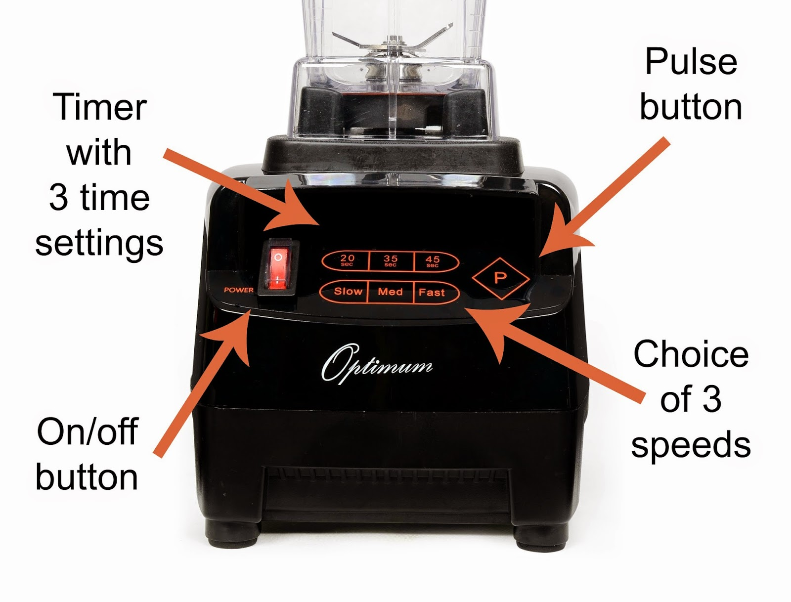 Froothie Optimum 9200 Blender dials