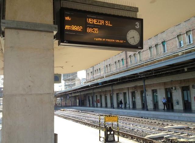 Viagem de trem de Roma à Veneza