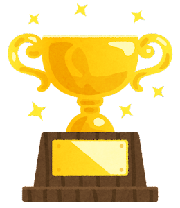 金の優勝カップのイラスト
