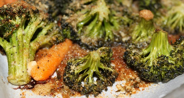Roasted Broccoli and Carrots with Garlic