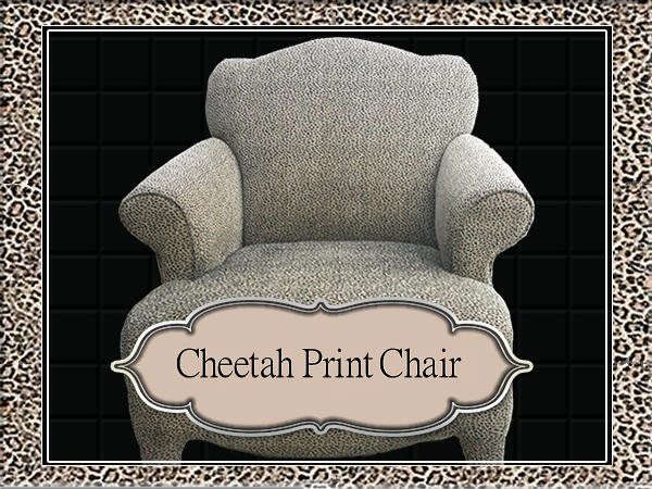 Cheetah Print Chair (Oklahoma City Craigslist Garage Sales) $99