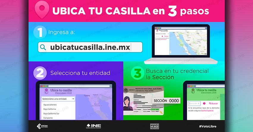 INE - DÓNDE VOTAR: Ubica tu Casilla para Votar Elecciones México 2018 (1° Julio) Instituto Nacional Electoral - www.ubicatucasilla.ine.mx