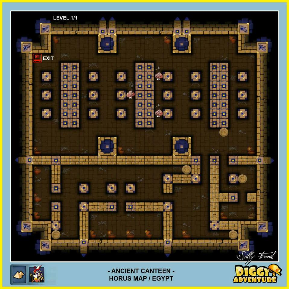 Diggy's Adventure Walkthrough: Horus Egypt Quests / Ancient Canteen
