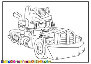 Angry Birds Transformers Optimus Prime Coloring Page Coloring Pages