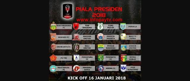 Daftar Klub Piala Presiden 2018