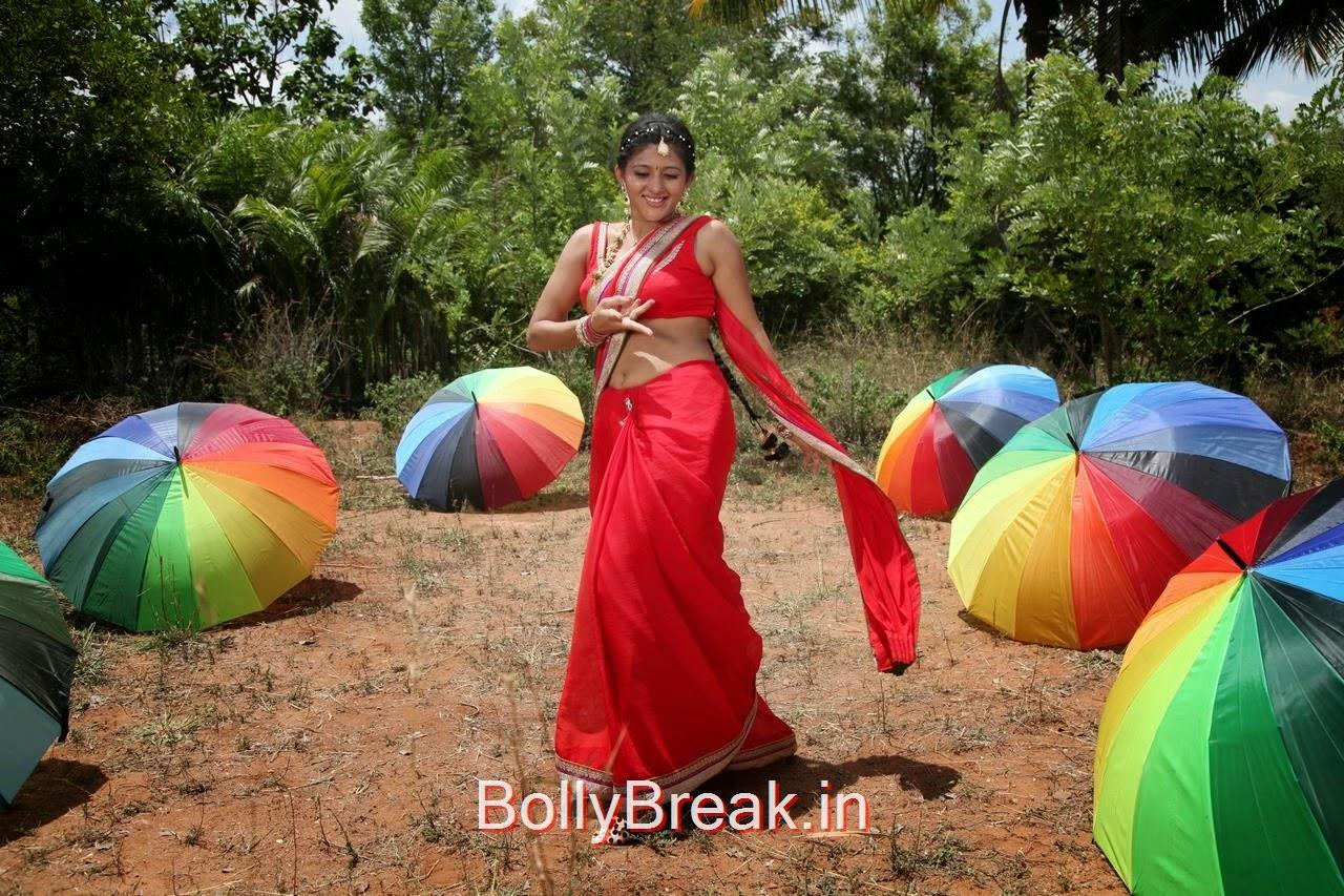 , Manjula Rathod Hot Pics in Red Saree
