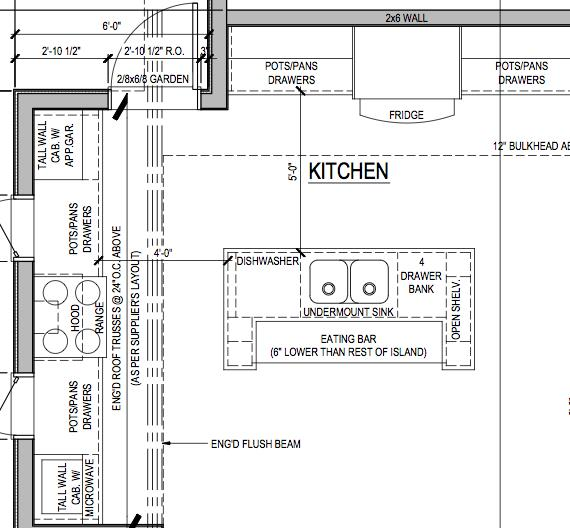 L Shaped Kitchen With Island Floor Plans Home Interior