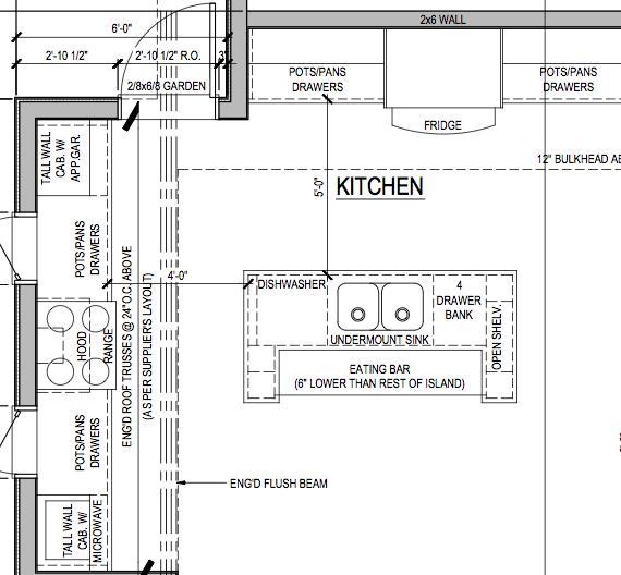 L Shaped Kitchen With Island Floor Plans Home Interior Exterior Decor Design Ideas