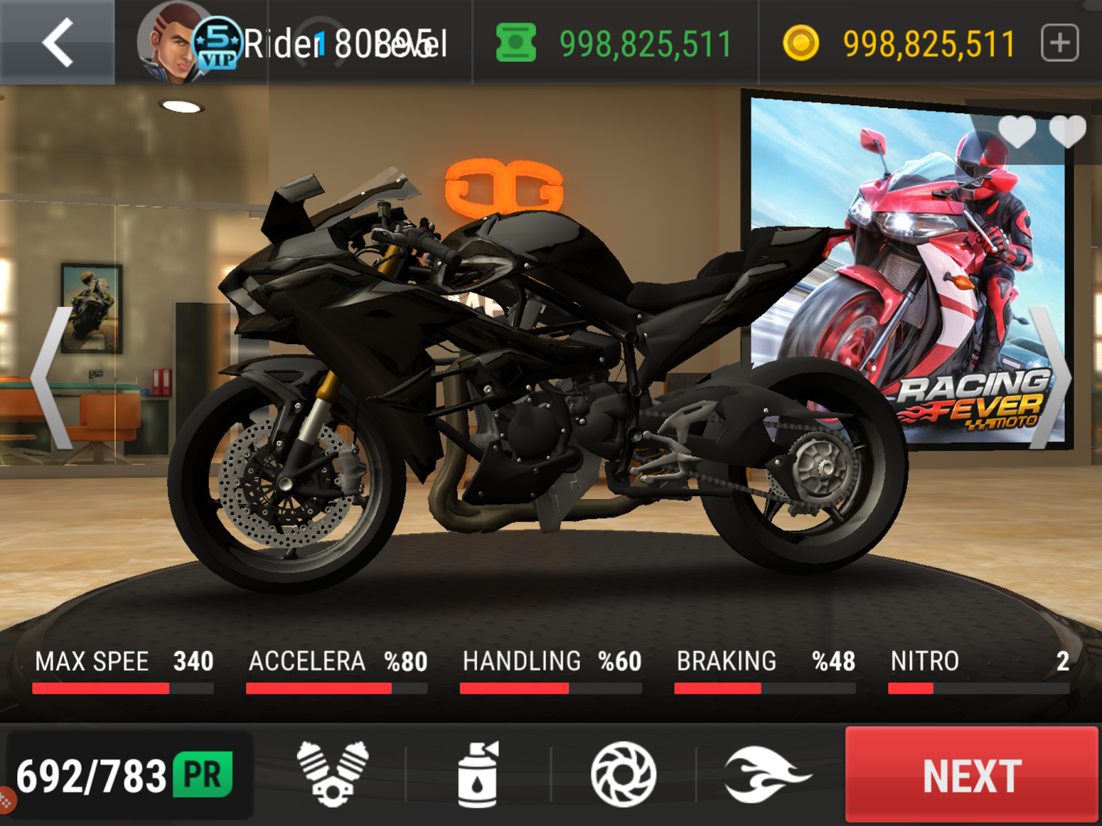 racing fever moto unlimited coins