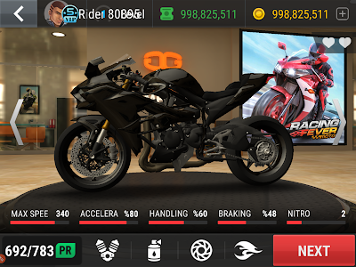 Racing fever moto unlimited money mod apk