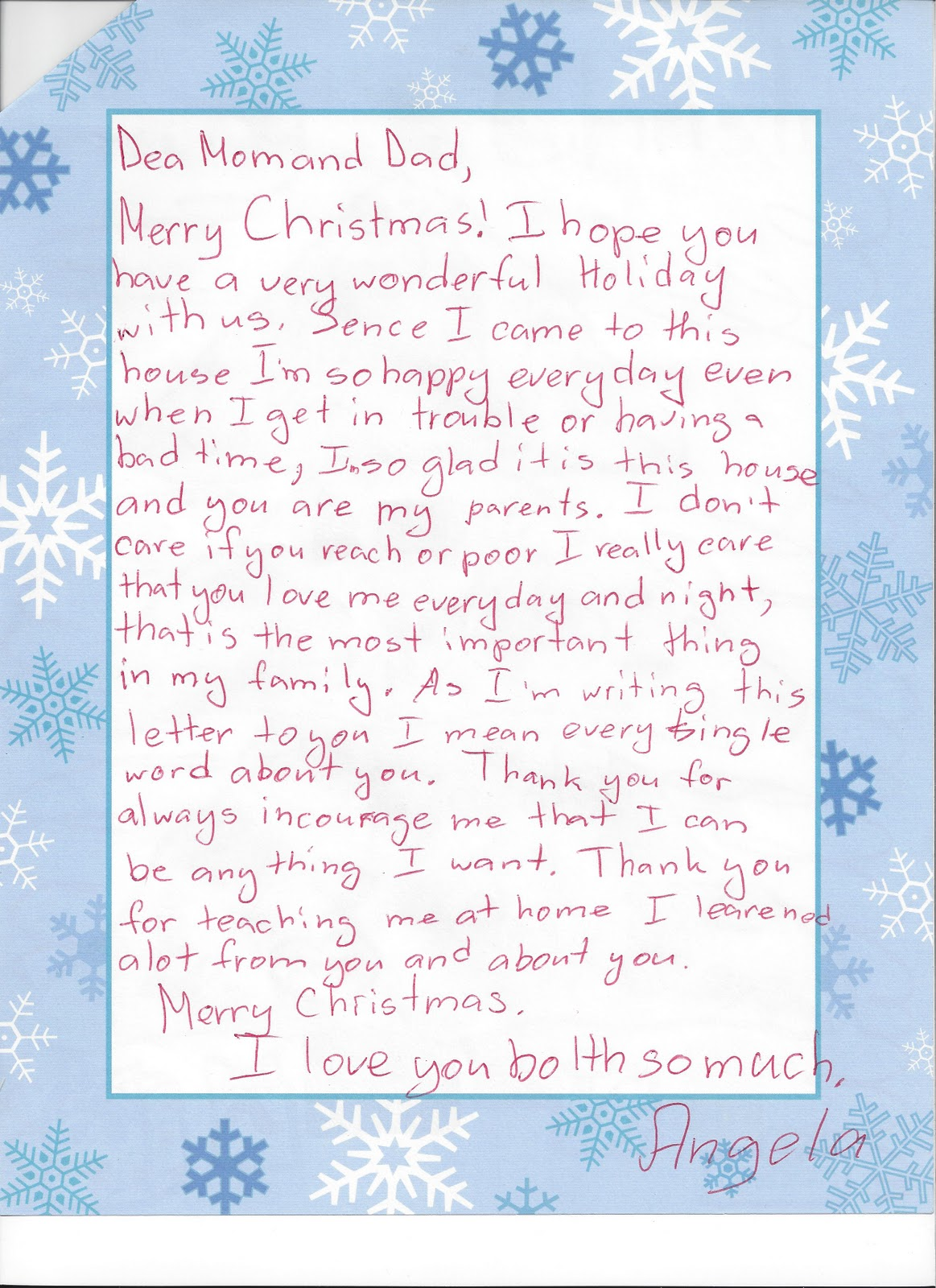 Lajoy Family A Christmas Letter