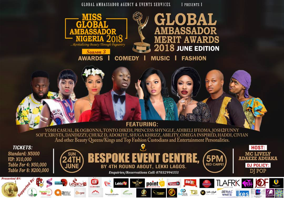 Global Ambassador Merit Awards 2018 June Edition  #roadtomgan2018 #missglobalambassadornigeria #Gamaward2018