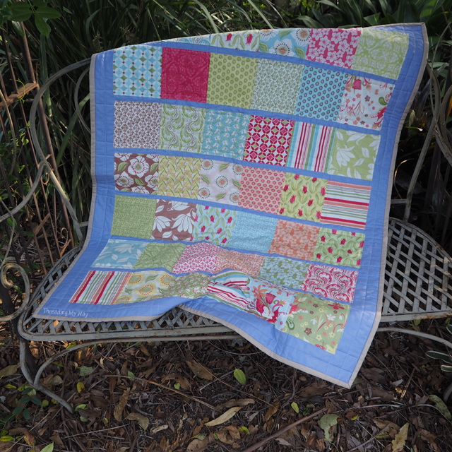 Small lap quilt ~ Threading My Way