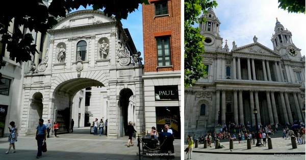Temple Bar Gate e Catedral de Saint Paul - Londres