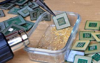 استخراج الذهب من  المعالج المركزي CPU