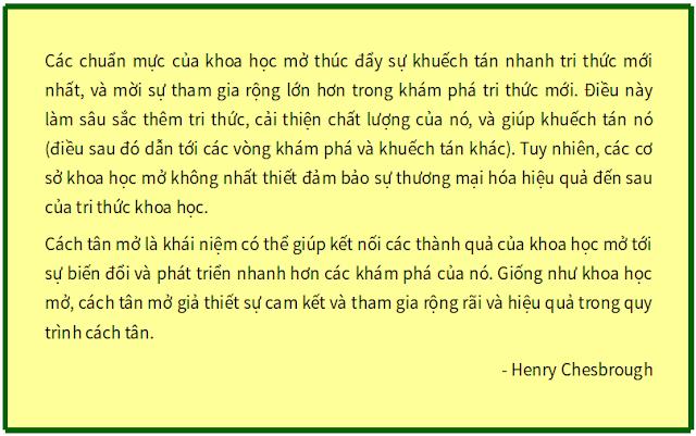 'Từ Khoa học Mở tới Cách tân Mở' - bản dịch sang tiếng Việt