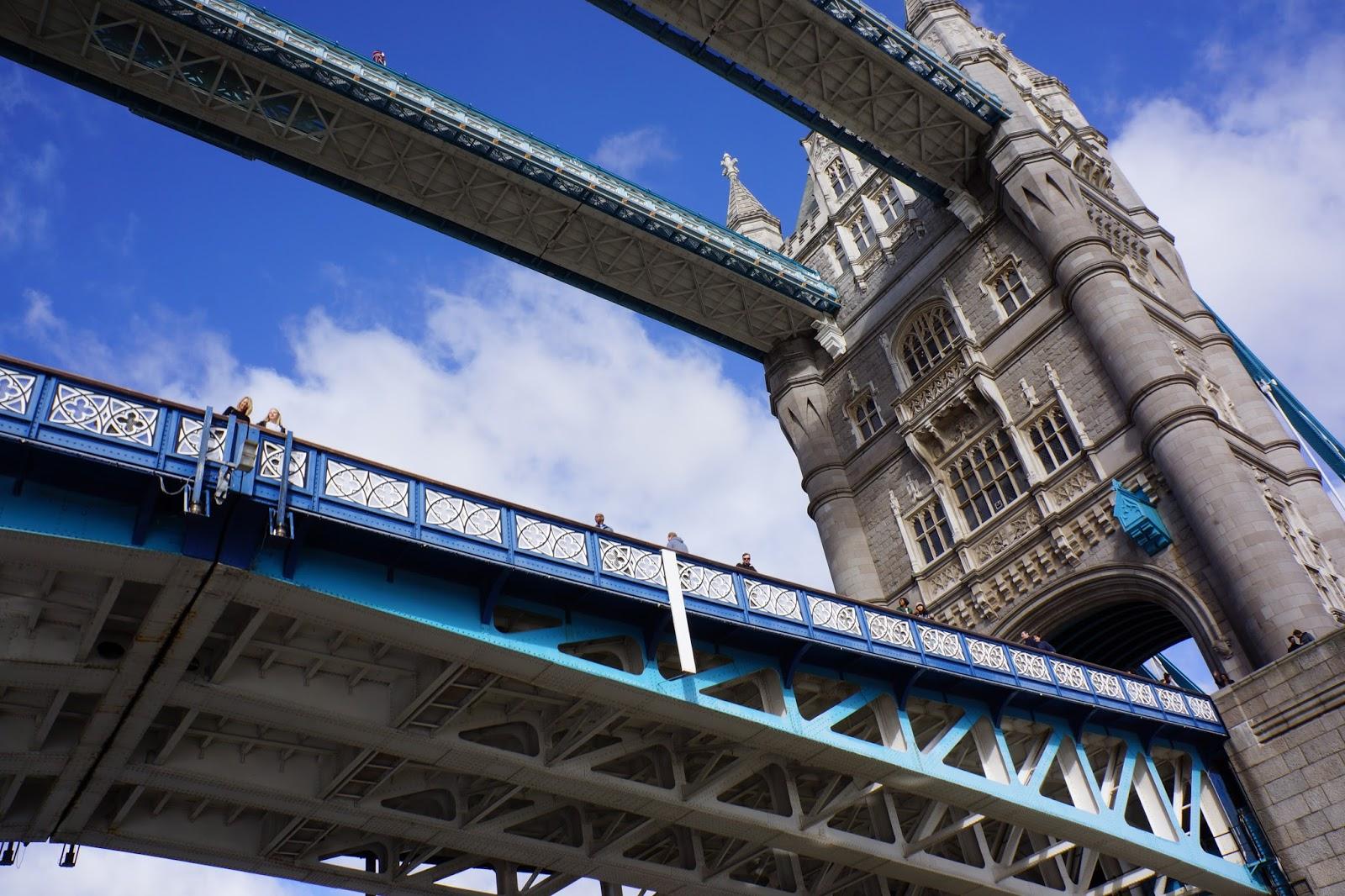 tower bridge from a boat below