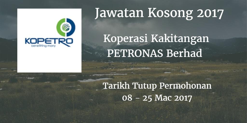 Jawatan Kosong KOPETRO 08 - 25 Mac 2017