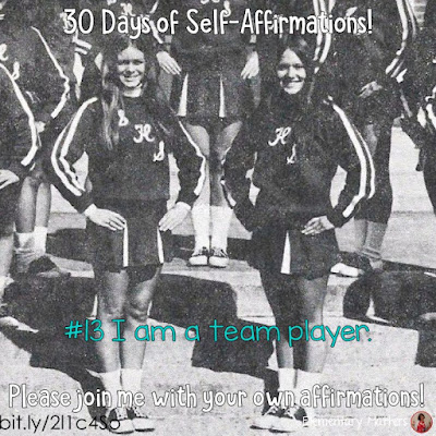 """30 Days of Self-Affirmations: Day 13: I am a team player! For 30 days, I will be celebrating my own """"new year"""" with self-affirmations. If you are interested in joining me, feel free to  write your own affirmations here, or  respond on my social media here: http://bit.ly/2JuKRWa"""