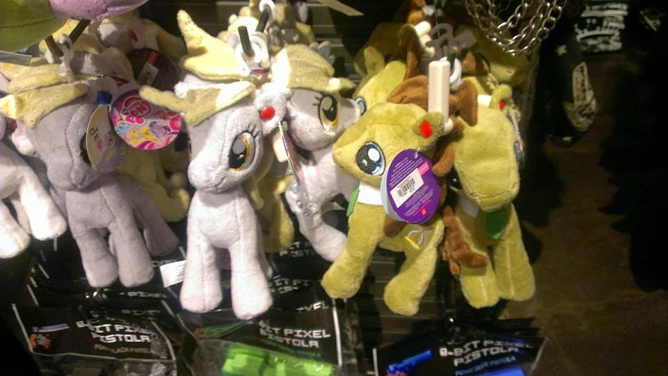 Derpy, DJ-Pony and Dr Whooves Aurora Plushies