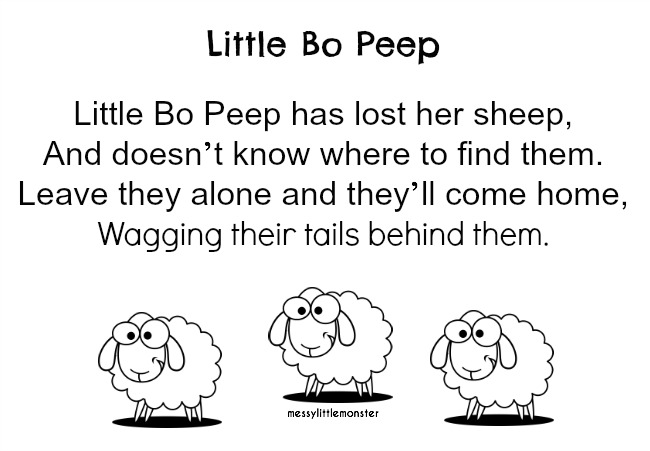 little bo peep printable image