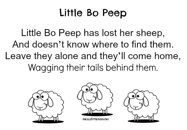 Little Bo Peep Name Hunt - Messy Little Monster